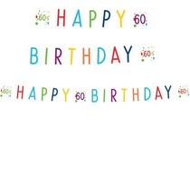 60. narozeniny nápis 180 cm x 14 cm