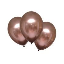 Balónky chromové růžovo-zlaté 6 ks 27,5 cm
