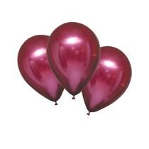 Balónky chromové bordové 6 ks 27,5 cm