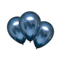 Balónky chromové modré 6 ks 27,5 cm