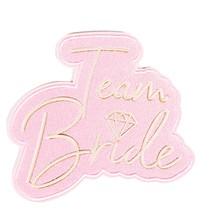 Team Bride nažehlovací nálepka 9 cm x 9 cm