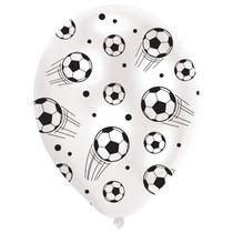 Balónky fotbal s plným potiskem dokola 6ks 27,5cm
