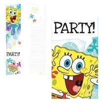 SpongeBob pozvánky na party 6ks