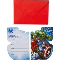 Avengers pozvánky 8 ks