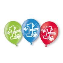 Balónky 1. narozeniny kluk 6 ks mix barev 27,5 cm