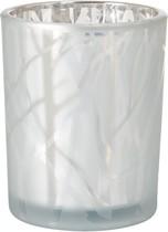 Svícen bílý Shimmer 100 mm x Ø 80 mm