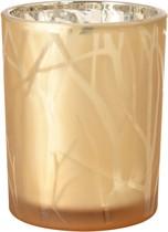 Svícen zlatý Shimmer 100 mm x Ø 80 mm