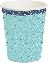 Papírové kelímky Rice Blue 10 ks, bio 240 ml