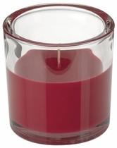Svíčka ve skle Elegant bordová 10/10cm