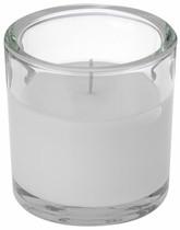 Svíčka ve skle Elegant bílá 10/10cm