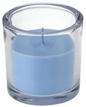Svíčka ve skle Elegant světle modrá 10/10cm