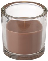 Svíčka ve skle Elegant hnědá 10/10cm