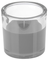 Svíčka ve skle Elegant šedá 10/10cm