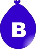 Balónek písmeno B modré