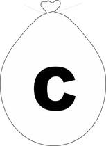 Balónek písmeno C bílé