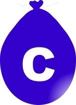 Balónek písmeno C modré