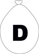 Balónek písmeno D bílé