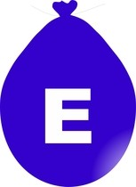Balónek písmeno E modré