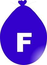Balónek písmeno F modré
