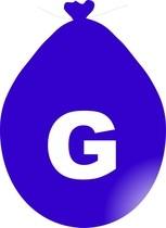 Balónek písmeno G modré