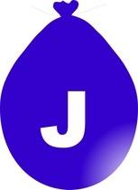 Balónek písmeno J modré