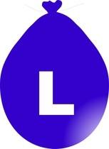 Balónek písmeno L modré