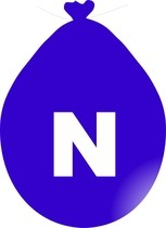 Balónek písmeno N modré