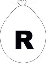 Balónek písmeno R bílé