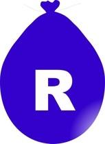 Balónek písmeno R modré