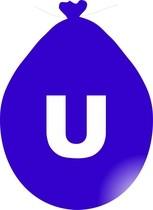 Balónek písmeno U modré