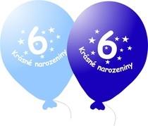 Narozeninové balónky modré s potiskem 6 - 5 ks