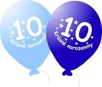 Narozeninové balónky modré s potiskem 10 - 5 ks