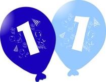 Balonky narozeniny 5ks s číslem 1 pro kluky