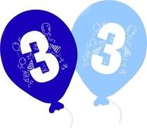 Balonky narozeniny 5ks s číslem 3 pro kluky