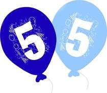 Balonky narozeniny 5ks s číslem 5 pro kluky