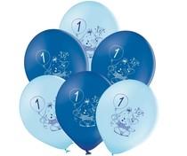 Balónky 1.narozeniny modrý slon 6 ks