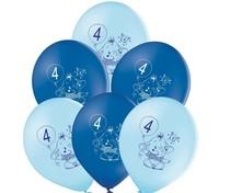Balónky 4.narozeniny modrý slon 6 ks