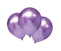 Balónky chromové fialové 6 ks 30 cm