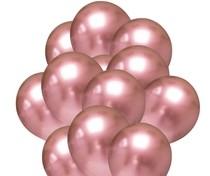 Balónky chromové růžovo-zlaté 20 ks 30 cm