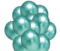 Balónky chromové zelené 20 ks 30 cm