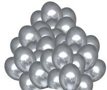 Balónky chromové stříbrné 50 ks 30 cm
