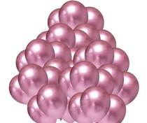 Balónky chromové růžové 50 ks 30 cm