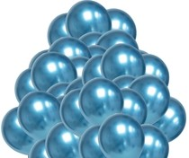 Balónky chromové modré 50 ks 30 cm