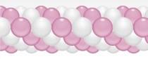 Balónková girlanda světle růžová 3 m