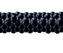 Balónková girlanda chrom černá 3 m