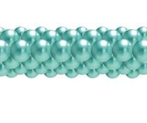 Balónková girlanda chrom zelená 3 m