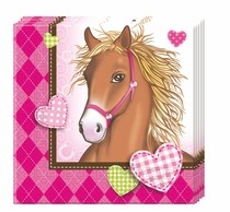 Koně ubrousky 20ks 2-vrstvé 33cm x 33cm