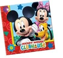 Mickey Mouse ubrousky 20ks 2-vrstvé 33x33cm