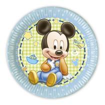Mickey Baby talíře 8ks 23cm