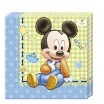 Mickey Baby ubrousky 20ks 33x33cm